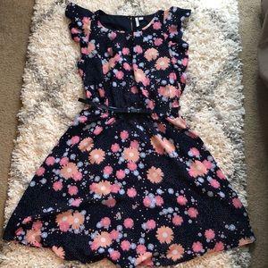 ELLE | Floral Dress with belt